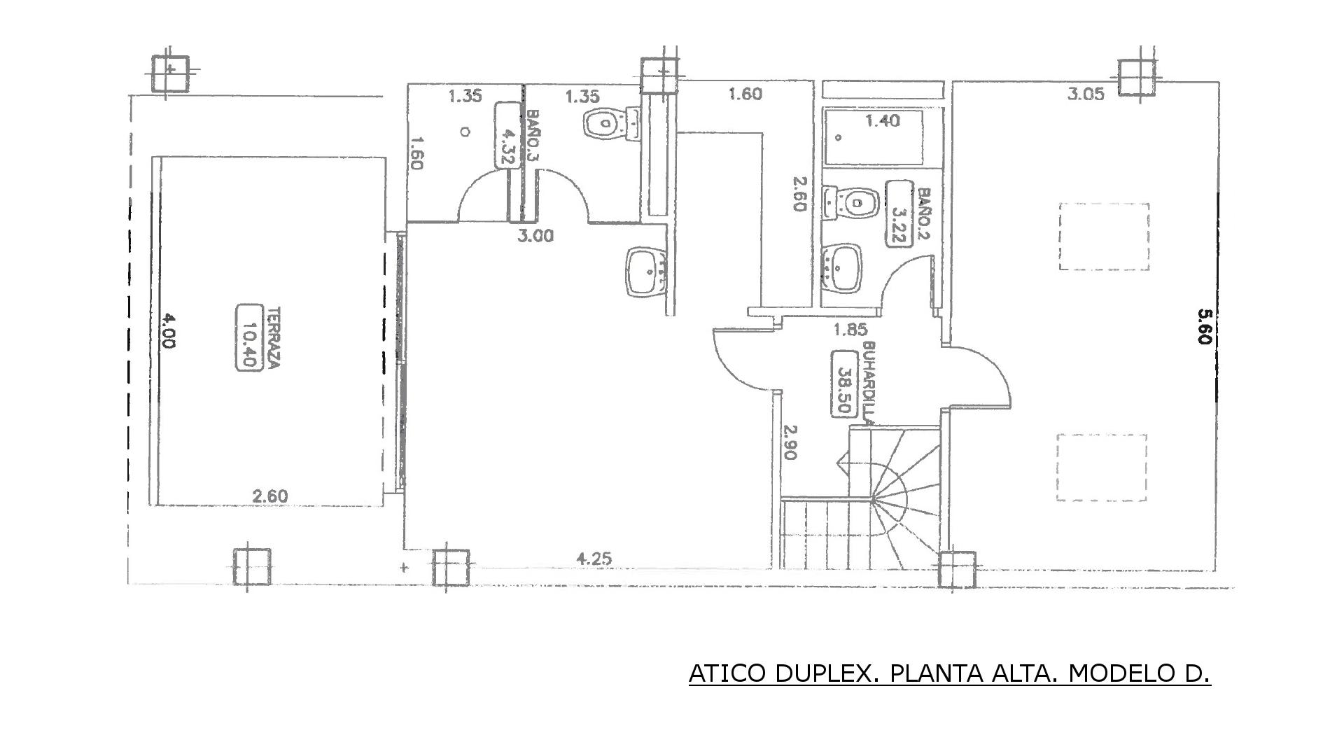PLANTA ALTA. ATICO D.