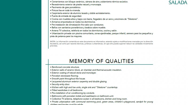 MEMORY OF QUALITIES